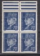 FRANCE 1941 - BLOC DE 4 TP Y.T. N° 510 - NEUFS** /W44 - France