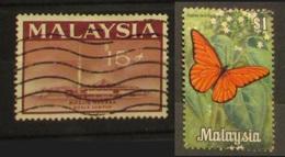 Malesia 1965 Masjid Neuara Mosquee 15c  1970 Butterfly Farfalla Papillon 1$ - Malesia (1964-...)
