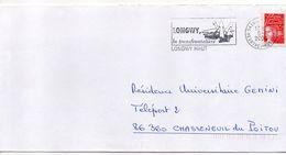 "Flamme -2000--LONGWY--54 "" La Transfrontalière "" Type Marianne Luquet......à Saisir - Postmark Collection (Covers)"
