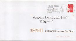 "Flamme -2000--ECHIRE--79 "" Salbart,Sèvre Niortaise,Notre-Dame "" Type Marianne Luquet......à Saisir - Postmark Collection (Covers)"