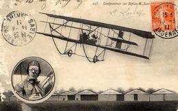 L'Aviateur LINDPAINTNER Sur Biplan Sommer  -  CPA - Aviadores