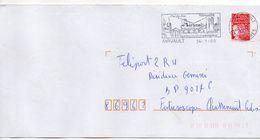 """Flamme -2000 --AIRVAULT--79- """"Ville D'Histoire Et D'entreprise (pont,usine) """" Type Marianne Luquet......à Saisir - Postmark Collection (Covers)"""