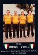 """07145 """"S.B. RIVODORESE / BENEVENE,GRANAGLIA, BRAGAGLIA, SELVA - CAMPIONI D'ITALIA 1975"""" FOTOGRAFIA ORIG. - Pétanque"""