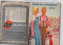 BU2- Alter Deutscher Haus-und Sparkalender 1940 Sparkasse D. Saalkreises - Ohne Zuordnung