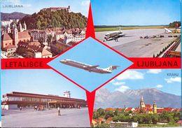 Yugoslavia. Slovenia.  The Ljubljana`s Airport. - Aerodromi