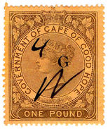 (I.B) Griqualand West Revenue : Duty Stamp £1 - South Africa (...-1961)