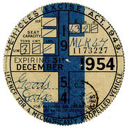 (I.B) GB Revenue : Car Tax Disc (Dodge Goods - December 1954) - Unclassified