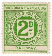 (I.B) Rhondda & Swansea Bay Railway : Letter Stamp 2d - 1902-1951 (Kings)