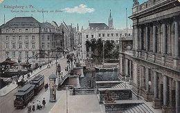 O 285 -  Königsberg, Grüne Brücke Mit Aufgang Zur Börse, Feldpost 1916 Gelaufen - Ostpreussen
