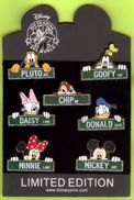 7 Pin's BD Disney Rue Nom De Personnage - #932 - Disney