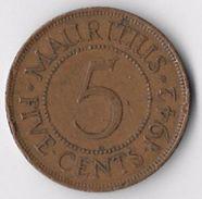 Mauritius 1942 5 Cents [C651/2D] - Mauritius