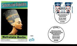 ALLEMAGNE  BERLIN   FDC  1989  Egypte Pharaon Nefertiti - Egyptologie