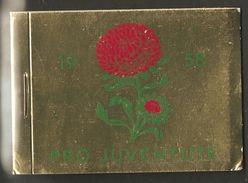PRO JUVENTUTE 1958 ** SBK 120,- CHF Botanique Fleurs - Carnets