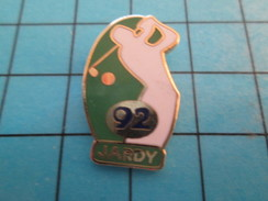 Pin713H Pin's Pins : BEAU ET RARE : SPORTS / GOLF GOLFEUR JARDY 92 - Golf