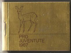 PRO JUVENTUTE 1967 ** SBK 22,- CHF Mamifères Cerf Martre Bouquetin - Booklets