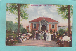 Old Postcard Of Belle Isle Aquarium,Belle Isle Park,Detroit, Michigan,United States,V26. - Detroit