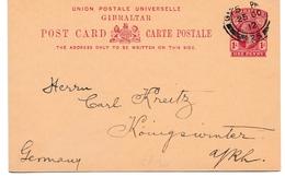 Post Card 1912 Stationery Gibraltar - CP 30 - Entier Ganzsache - Gibilterra