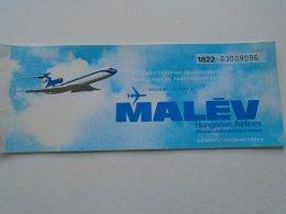 AV108.5 Hungary  MALÉV  Airlines  Ticket - Budapest - London  - 1979 - Transportation Tickets
