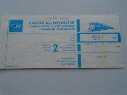 AV108.7 Hungary  MÁV Railway Train Ticket Budapest WIEN 1988 - Transportation Tickets