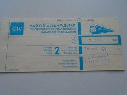AV108.9 Hungary  MÁV Railway Train Ticket Budapest WIEN 1989 - Transportation Tickets