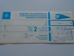 AV108.10 Hungary  MÁV Railway Train Ticket Budapest WIEN 1989 - Transportation Tickets