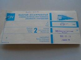 AV108.11 Hungary  MÁV Railway Train Ticket Budapest WIEN 1989 - Transportation Tickets