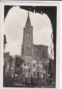 MINI PHOTO--67---STRASBOURG  Cathedrale--libération Alsace Et La Lorraine Libérées--voir 2 Scans - Photographie