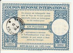 Coupon-réponse  6,50 Piastres Viet-Nam - Saigon 1960 - Modèle Lo 16n - IRC CRI IAS - Vietnam