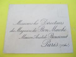 Enveloppe Commerciale/Magasins Du Bon Marché/ Maison Aristide Boucicaut//Paris /Vers 1910-1920   CAC74 - Francia