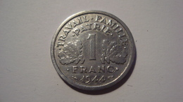 MONNAIE  1 FRANC BAZOR 1944 B - Francia