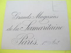 Enveloppe Commerciale/Grands Magasins De La Samaritaine/Paris /Vers 1910-1920   CAC75 - Francia