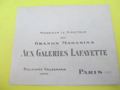 Enveloppe Commerciale/Grands Magasins De La Samaritaine/Paris /Vers 1910-1920   CAC76 - Francia