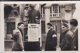 MINI PHOTO--67--STRASBOURG Général Leclerc's First Proclamation-F.F.I.-l'alsace Et La Lorraine Libérées--voir 2 Scans - Photography