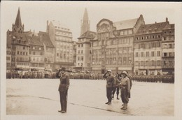 MINI PHOTO--67--STRASBOURG Général Leclerc's Troops Place Kléber-l'alsace Et La Lorraine Libérées--voir 2 Scans - Photographie