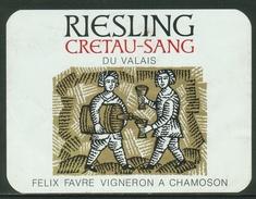 Rare // Etiquette //  Riesling, Félix Favre, Chamoson, Valais,Suisse - Etiquettes