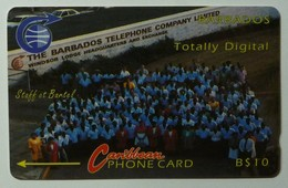 BARBADOS- GPT - 3CBDA - Totally Digital - BAR-3A - Mint - Barbados