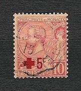 Principauté De MONACO 1914 - Pro Croix Rouge - 5 C. Sur 10 C. Rose. - Yvert 26 - Monaco