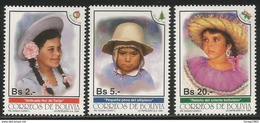 1994 Bolivia Christmas Costumes   Complete  Set Of 3 MNH - Bolivia