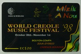 DOMINICA - GPT - World Creole Music Festival '98 - 266CDMA - $20 - Used - Dominica