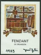 Rare // Etiquette // Fendant De Branson 1983, Daniel Bollin Valais,Suisse - Etiquettes