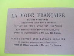 Carte  Commerciale/La Mode Française/Gazette Parisienne/Patrons Découpés En Grandeur Naturelle/Vers 1910-1920  CAC48 - Francia
