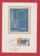 Carte Premier Jour  / Conseil De L'Europe / Strasbourg  / 16 Octobre 1976 - Cartoline Maximum