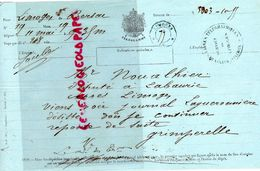 87- LIMOGES A BERSAC- TELEGRAMME GRIMPERELLE A NOUALHIER DEPUTE LABORIE- VIENS VOIR JOURNAL LAGUERONNIERE- - Historische Dokumente