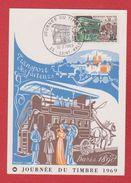 Carte Premier Jour  / Journée Du Timbre / Transport Des Facteurs / Saint Malo / 15 Mars 1969 - Maximumkarten