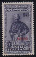 1932 Egeo Garibaldi 5 L. MLH - Ägäis (Nisiro)