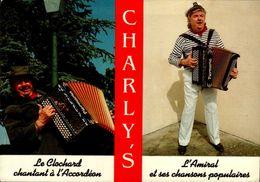 50-BREVILLE SUR MER..AGENCE ARTISTIQUE NATIONALE..CHARLY'S..ARTISTE DE VARIETES..2 VUES...CPM ANIMEE - Frankreich