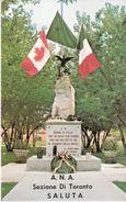 Cartolina Postale A.N.A.SEZIONE DI TORONTO - Monumento Dell'alpino D'Italia 1976 - Inaugurazioni