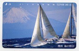 Voilier Sport Bateau Boat Montagne Télécarte Telefonkarten Phonecard (D.115) - Bateaux