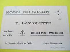 Carte  Commerciale/Note/ Hotel Du Sillon/Vue Directe Sur La Mer / E. Laviolette/SAINT-MALO/Vers 1920-1930          CAC56 - Francia
