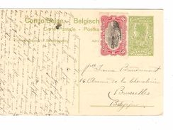 Belgisch Congo Belge Entier 5c+TP Pas Oblitéré Vue 56 Kitobola V.Bruxelles PR4822 - Entiers Postaux